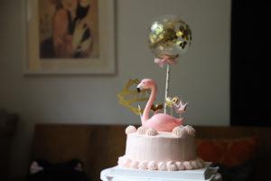 taart-flamingo-confetti